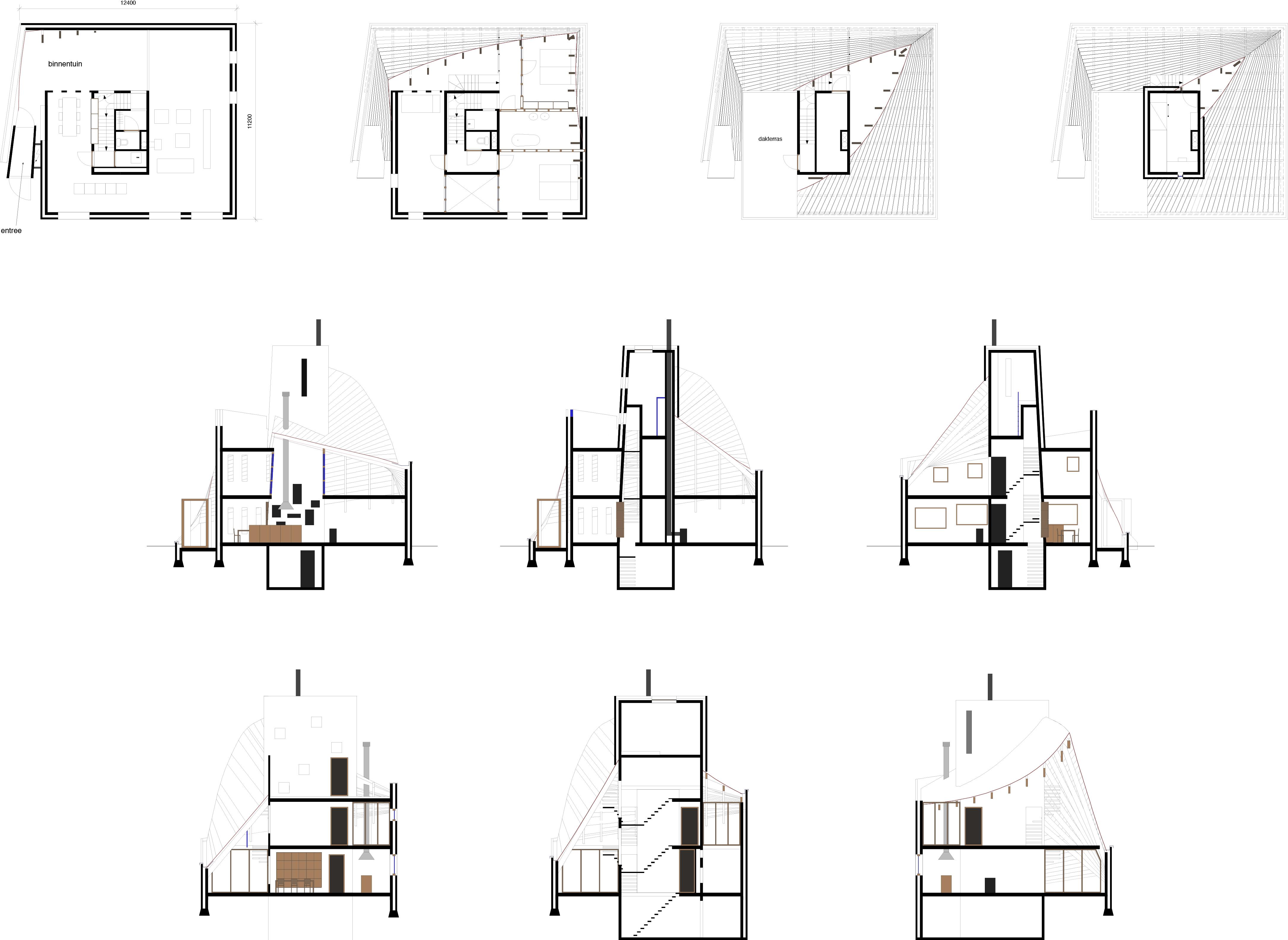 plattegronden+doorsnedes